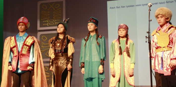 Участники конкурса «Ине тілі» 2018-го года.