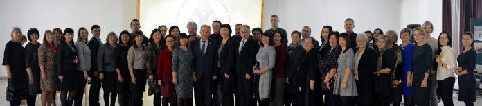 Участники собрания Хакасского регионального отделения Российского военно-исторического общества